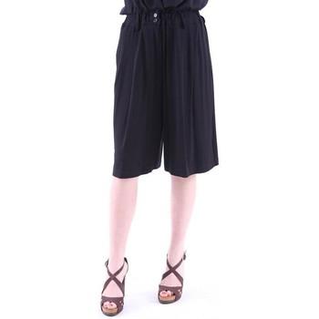 Abbigliamento Donna Pinocchietto Aspesi PANTALONI CORTI AMPI  IN JERSEY NERO Black