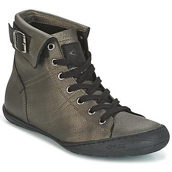 Scarpe Donna Sneakers alte PLDM by Palladium GLADYS DST Grigio / Oro