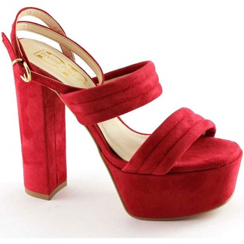 Scarpe Donna Sandali Divine Follie 8857 rosso sandali donna tacco plateaux cinturino Rosso