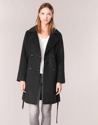 Abbigliamento Donna Cappotti Casual Attitude HALLOA Nero