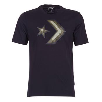 Abbigliamento Uomo T-shirt maniche corte Converse DIMENSIONAL LAYER STAR CHEVRON TEE Nero