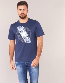 Abbigliamento Uomo T-shirt maniche corte Converse CHUCKPATCH CONTRAST SLASH TEE Marine