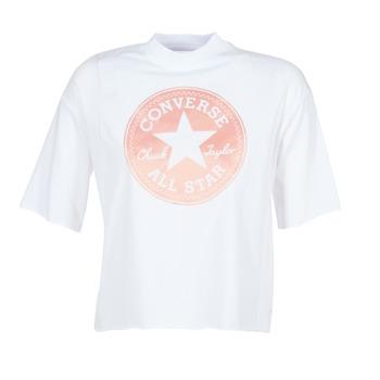 Abbigliamento Donna T-shirt maniche corte Converse SATIN CP MOCK NECK TEE Bianco