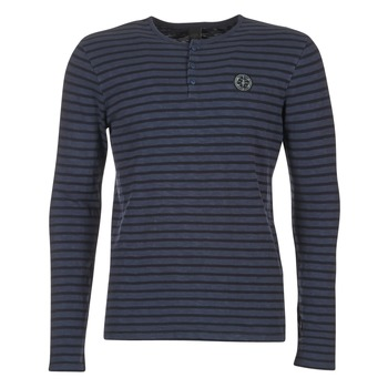 Abbigliamento Uomo T-shirts a maniche lunghe Le Temps des Cerises ROGER MARINE