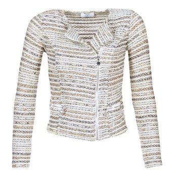 Abbigliamento Donna Giacche / Blazer Le Temps des Cerises MIRABEAU Beige / Bianco
