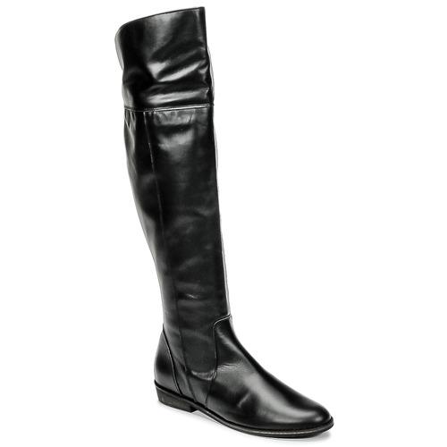 So Size HOLA Nero  Scarpe Stivali a metà coscia Donna 160
