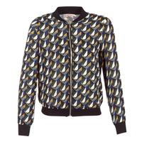 Abbigliamento Donna Giubbotti Moony Mood HARIO Nero / Blu / Giallo