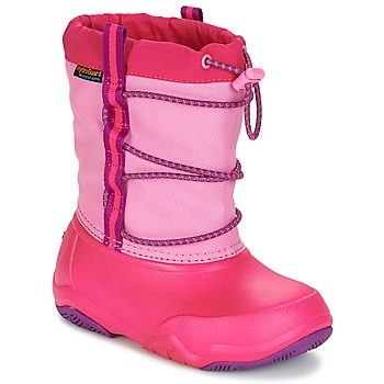 Scarpe Bambina Stivali da neve Crocs Swiftwater waterproof boot Pink