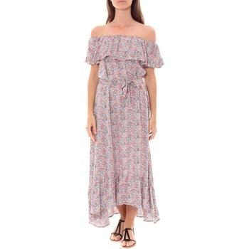 Abbigliamento Donna Abiti lunghi By La Vitrine Robe Longue Care  of you Fleuri Rose F50035 Rosa