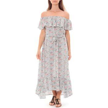 Abbigliamento Donna Abiti lunghi By La Vitrine Robe Longue Care  of you Fleuri Bleu F50035 Blu