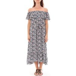Abbigliamento Donna Abiti lunghi By La Vitrine Robe Longue Care  of you Fleuri Noir F50035 Nero