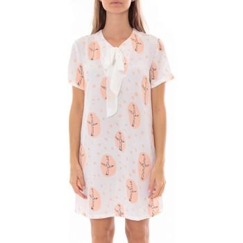 Abbigliamento Donna Abiti corti By La Vitrine Robe Tunique Blanc 4283-583 Bianco