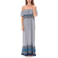 Abbigliamento Donna Abiti lunghi By La Vitrine Robe Longue Care  of you  Bleu F50055 Blu