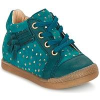 Scarpe Bambina Sneakers alte Babybotte FALSIFI TURQUOISE / Oro