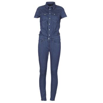 Abbigliamento Donna Tuta jumpsuit / Salopette G-Star Raw TACOMA SLIM JUMPSUIT WMN SS DK