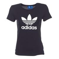 Abbigliamento Donna T-shirt maniche corte adidas Originals TREFOIL TEE Nero
