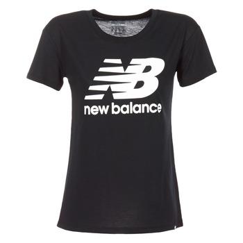 Abbigliamento Donna T-shirt maniche corte New Balance NB LOGO T Nero / Bianco