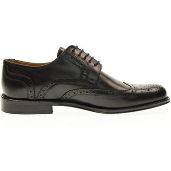 Scarpe Uomo Derby Exton scarpe uomo inglesine 6010 NERO Pelle