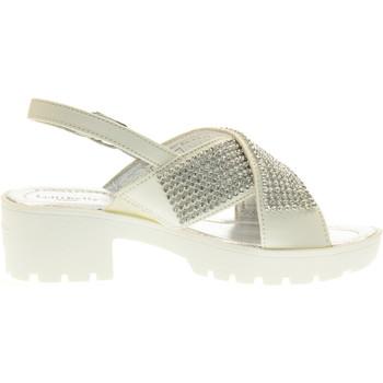 Scarpe Unisex bambino Sandali Lelli Kelly scarpe bambina sandali LK4484 GIUSY BIANCO Pelle