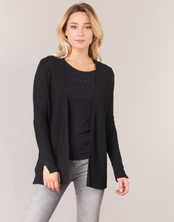 Abbigliamento Donna Gilet / Cardigan Esprit IRDU Nero
