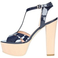 Scarpe Donna Sandali Emporio Di Parma 818 Sandalo Donna Blu Blu