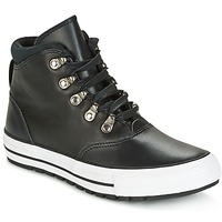 Scarpe Donna Sneakers alte Converse CHUCK TAYLOR ALL STAR EMBER BOOT SMOOTH LEATHER HI BLACK/BLACK/W Nero / Bianco