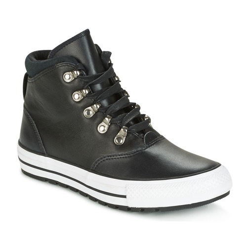 Converse – CHUCK TAYLOR ALL STAR EMBER BOOT SMOOTH LEATHER HI BLACK/BLACK/W