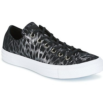 Scarpe Donna Sneakers basse Converse CHUCK TAYLOR ALL STAR SHIMMER SUEDE OX BLACK/BLACK/WHITE Nero / Bianco