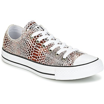 Scarpe Donna Sneakers basse Converse CHUCK TAYLOR ALL STAR FASHION SNAKE OX BROWN/BLACK/WHITE Nero / Bianco
