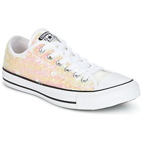 Scarpe Donna Sneakers basse Converse CHUCK TAYLOR ALL STAR SEQUINS OX WHITE/BLACK/WHITE Bianco / Paillettes