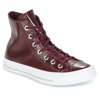 Scarpe Donna Sneakers alte Converse CHUCK TAYLOR ALL STAR CRINKLED PATENT LEATHER HI DARK SANGRIA/DA BORDEAUX / Bianco