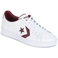 Scarpe Uomo Sneakers basse Converse PL 76 FOUNDATIONAL LEATHER WITH ELEVATED DETAILING OX WHITE/DEEP Bianco / BORDEAUX