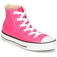 Scarpe Bambina Sneakers alte Converse CHUCK TAYLOR ALL STAR SEASONAL HI PINK POW Rosa