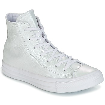 Scarpe Donna Sneakers alte Converse CHUCK TAYLOR ALL STAR IRIDESCENT LEATHER HI IRIDESCENT LEATHER H Bianco