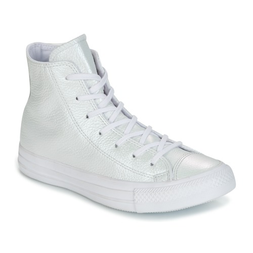 Converse CHUCK TAYLOR ALL STAR IRIDESCENT LEATHER HI IRIDESCENT LEATHER H Bianco Scarpe Sneakers alte Donna 70,00