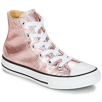 Scarpe Bambina Sneakers alte Converse CHUCK TAYLOR ALL STAR METALLIC SEASONAL HI METALLIC SEASONAL HI Rosa / Bianco / Nero