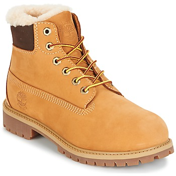 Scarpe Unisex bambino Stivaletti Timberland 6 IN PRMWPSHEARLING LINED Camel