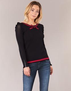 Abbigliamento Donna Maglioni Morgan MIRTI Nero / Rosso