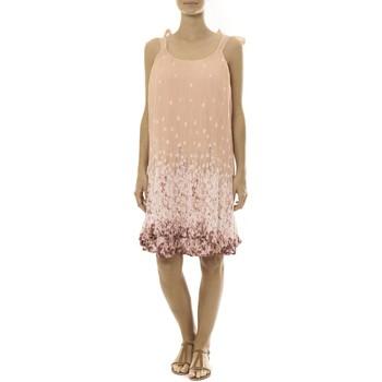 Abbigliamento Donna Abiti corti By La Vitrine Robe Rose Care of you Imprimée Fleurs F50113 Rosa