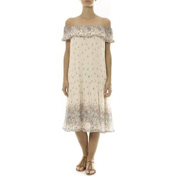 Abbigliamento Donna Abiti corti By La Vitrine Robe Beige Care of you Imprimée Fleurs F50134 Beige