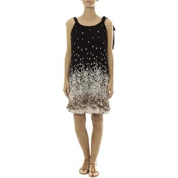 Abbigliamento Donna Abiti corti By La Vitrine Robe Noir Care of you Imprimée Fleurs F50113 Nero
