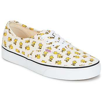 Scarpe Sneakers basse Vans AUTHENTIC SNOOPY Bianco / Giallo