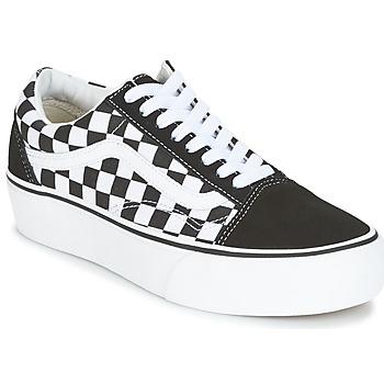 Scarpe Donna Sneakers alte Vans UA OLD SKOOL PLATFORM Nero / Bianco