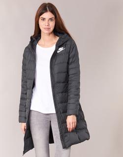 Abbigliamento Donna Piumini Nike DOWN FILL PARKA Nero / Bianco