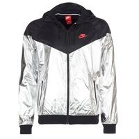 Abbigliamento Uomo giacca a vento Nike WINDRUNNER METALLIC Nero / Argento