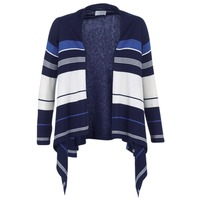 Abbigliamento Donna Gilet / Cardigan Casual Attitude IHARINE Marine / Bianco