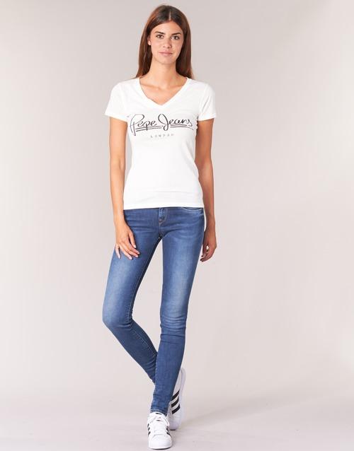 Abbigliamento Donna Jeans skynny Pepe jeans SOHO Blu / Medium