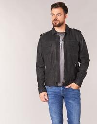 Abbigliamento Uomo Giacca in cuoio / simil cuoio Pepe jeans NARCISO Nero