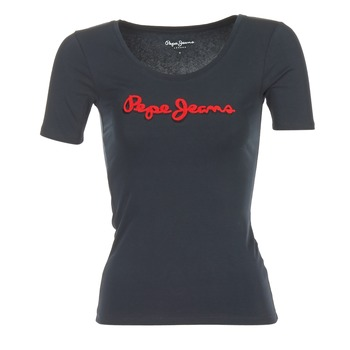 Abbigliamento Donna T-shirt maniche corte Pepe jeans MARIA Nero