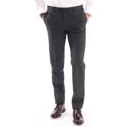 Abbigliamento Uomo Chino Rota PANTALONE  IN FRESCO DI LANA GRIGIO SCURO Grey